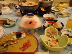 Fancy multi course Japanese dinner