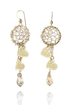 GoldFilled Earrings  Heart Dreams by NataliJewelryDesign on Etsy, $52.00