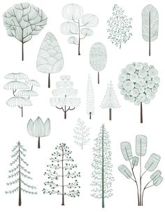 Architectural Drawing Patterns Illustration of pine trees collection Free Vector Sketchbook Architecture, Perspective Architecture, Collage Architecture, Architecture Design Concept, Architecture Graphics, Modern Architecture, Landscape Architecture Drawing, Garden Illustration, Creative Illustration