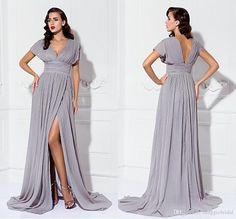 Elegant Plus Size 2015 Mother of the Bride Dresses A Line Hort Sleeve Long Chiffon Floor Length Pant Suits for Beach Weddings Online with $106.81/Piece on Maggiebridal's Store | DHgate.com