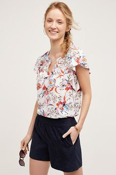 Shop the Ridged Yoke Tee  and more Anthropologie at Anthropologie today. Read customer reviews, discover product details and more.