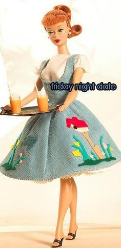 SEWING PATTERN BARBIE Friday Night Date Dress Digital Pdf Pattern, via Etsy.
