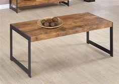 Rustic Nutmeg Gunmetal Wood Metal Coffee Table