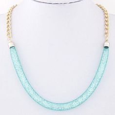 This necklace is all the rage, so super trendy right now. It is a silk…