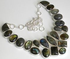 H-CL-MIX-399 Weight 70 gms Description Gemstone : Labradorite  Length : 18 Inches  Total Weight: 162.0 gms Our Price 36.21 $USD