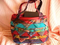 Upcycled Bag from Mens Ties. $55.00, via Etsy.