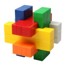 [$1.57] Unique Kongming Cube Magic Cube Brain Teaser IQ Cube Puzzle Toy