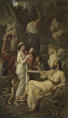 Anselm Feuerbach - Hafis am Brunnen 1866