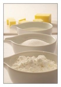 Homemade Cake Mix:  Always have a cake on hand with this recipe to make your own homemade cake mix.  Wouldn't it be nice to know exactly what ingredients are in the mix with no added preservatives or other nasty additives.