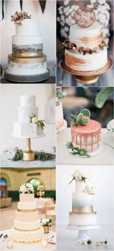 trending metallic wedding cakes #wedding #weddingideas #weddingcake