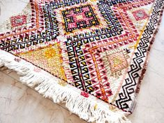 VINTAGE Turkish Handwoven Kilim Rug
