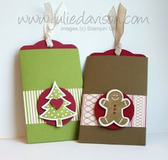Julie's Stamping Spot -- Stampin' Up! Project Ideas Posted Daily: Two Tags Gift Card Holders & Scallop Envelope Treat