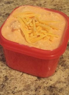 21 day fix buffalo dip - only one red! Combine Greek yogurt, shredded chicken and hot sauce! Serve with celery and carrots!
