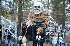 Halloween Site Decorating during 2014 Halloween Weekends at Lake Rudolph.