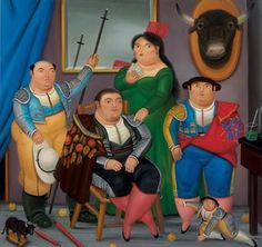 Colombian Artist, Fernando Botero - Family Scene