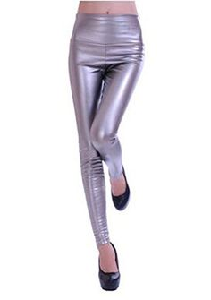 New Trending Pants: Sosite Women High Waist Thick Faux Leather Leggings Workout Skinny Pencil Pants (S, Titanium Silver). Sosite Women High Waist Thick Faux Leather Leggings Workout Skinny Pencil Pants (S, Titanium Silver)   Special Offer: $14.98      288 Reviews Faux leather stretch high waist leggings,looks very sexy,Size from S,M,L.The size runs small, so please choose upper size if you do not quite the...