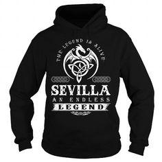 I Love SEVILLA ENDLESS LEGEND T shirts