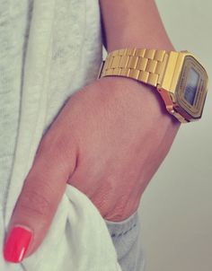 Casio gold watch.. Can not decide if i want this one, ore the turqiose one