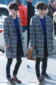 141212- EXO Chen (Kim Jongdae); Incheon Airport to Shenzen Airport #exom #style #fashion