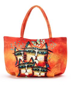 Love this Orange Making a Difference Bubble Tote on #zulily! #zulilyfinds