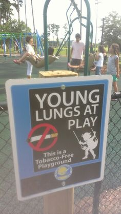 Why isn't this sign on every playground and swimming pool?!