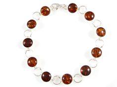 Multi amber jewelry bracelet