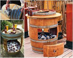 DIY barrel cooler #diy #home #recycling