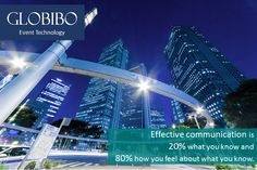 Globibo - Effective communication is 20% what you know and 80% how you feel about what you know.