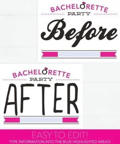 Bachelorette Party Before And After Photo Props Mug Shot