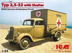 WWII German Ambulance Model Truck - 1:35 scale model from www.squadron.com
