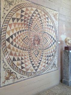 Ancient tile mosaic, Corinth, Greece