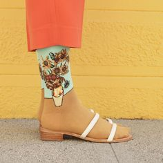 View from the Topp Takes on Art Socks. Van Gogh's Sunflowers in Maryam Nassir Zadeh - Vogue