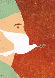 Davide Bonazzi - editorial and conceptual illustration. Represented by Richard Salzman / Salzman International. Visual Metaphor, Conceptual Art, Conceptual Illustrations, Grafik Design, Art And Illustration, Mail Art, Cover Design, Art Inspo, Art Drawings