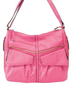 Another great find on #zulily! Pink Lindsey Hobo by Jessica Simpson Collection #zulilyfinds