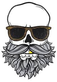 Resultado de imagem para bearded skull