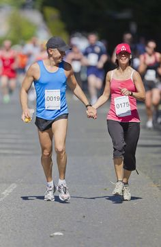 Jogging couple to the End together. #trainingdayfit #run #jog #couples #fitness #pair #together #love #workout #marathon #inspiration #motivation