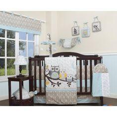 Blue Gray Owls Forest 13 pcs Crib Bedding Set Baby Nursery Quilt Bu - Nursery Bedding - Ideas of Nursery Bedding - Blue Gray Owls Forest 13 pcs Crib Bedding Set Baby Nursery Quilt Bu Price :