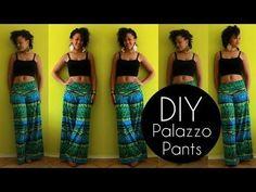 Cette fille ne se casse pas la tête! Voyez comment elle s'y prend pour confectionner un pantalon palazzo en moins de 20 minutes - Bricolages - Trucs et Bricolages
