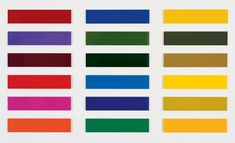 Gerhard Richter, Achtzehn Farbtafeln (Eighteen Colour Charts), 1966. Photo: © Gerhard Richter.