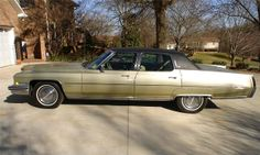 1973 Cadillac Fleetwood Brougham.  Uncle John's car that we bought from his estate.  The Land Yacht.