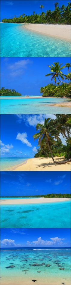 The stereotypically tropical beaches of the Cook Islands
