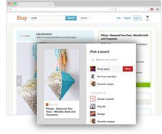 Pulsante del browser di Pinterest per Chrome Salva idee creative che trovi sul Web con un solo clic Fai clic sul quando trovi qualcosa su un altro sito che vuoi salvare. Provalo!