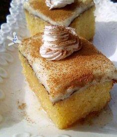 Ρεβανί πολίτικο Greek Desserts, Easy Desserts, Confectionery, French Toast, Sweets, Baking, Breakfast, Food, Tattoos