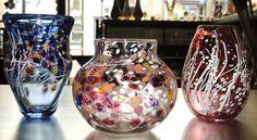Handblown vases by Rhonda Baker