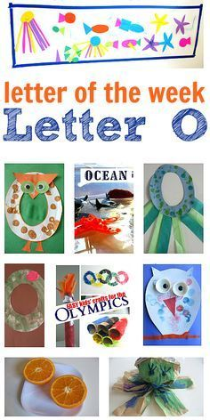 Crafts and Preschool Activities for Letter O  I just like the owl in the upper left