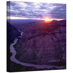 'Green River Dinosaur' by Dean Uhlinger Photographic Print Gallery-Wrapped on Canvas