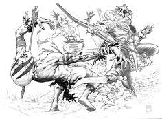 Gianluca Pagliarani, character sketch di Ewyan, un personaggio del mondo di Dragonero, Sergio Bonelli Editore.