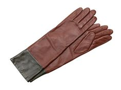 Echo Design Leather Colorblock Long #Glove in Coffee -