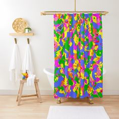 ' Sunflower fields forever- pink abstract watercolor sunflower painting ' Shower Curtain by hollycooper Origami, Pink Shower Curtains, Painting Shower, Watercolor Painting, Pink Showers, Hydrangea Colors, Floral Vintage, Flower Collage, Kimono Design