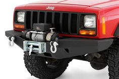 Smittybilt XRC Rock Crawler Winch Bumper | 84-01 Jeep Cherokee XJ